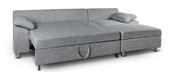 Duke 2 5 seater sofabed with storage chaise for 2 5 seater chaise